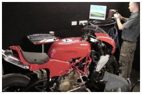 Ducati Desmosedici set up for tuning
