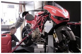 Ducati Desmosedici coupled to the DynoJet
